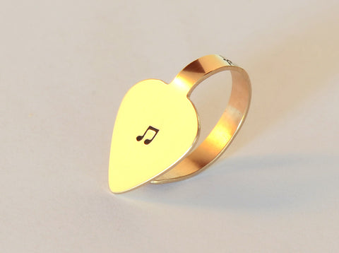 Bronze Thumb Pick with Music Note – Finger and Thumb Style Guitar Pick