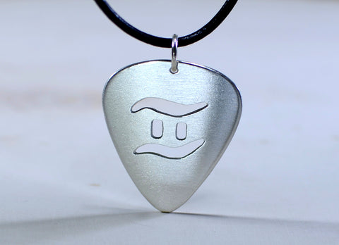 Sterling silver guitar pick pendant with personalized zodiac cut out sterling silver guitar pick pendant with personalized zodiac cut out aloadofball Image collections