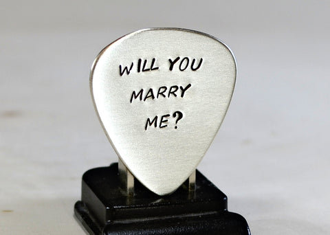 Will you marry me? - Guitar Pick Wedding Proposal
