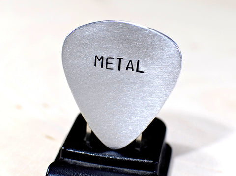 Guitar Pick Handmade from Aluminum for a Metal Head