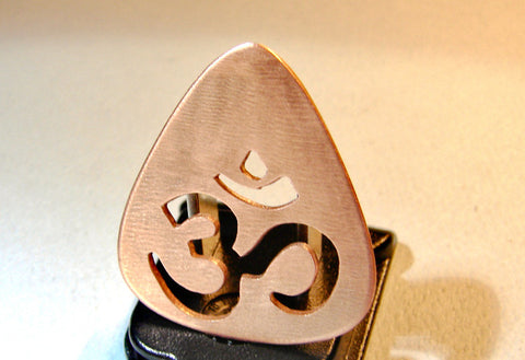 Copper Guitar Pick Handmade with OM Power