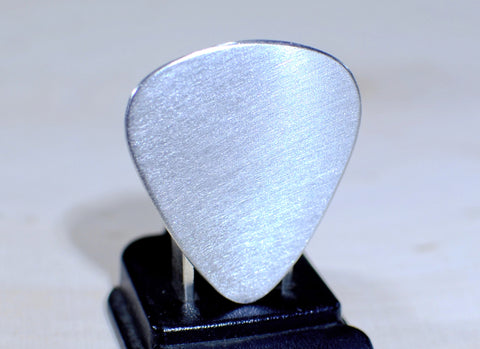 Guitar Pick Handmade from Aluminum to be Your Very Own Blank Canvas