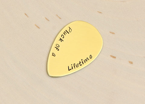 Pluck of a Life Time Brass Teardrop Guitar Pick