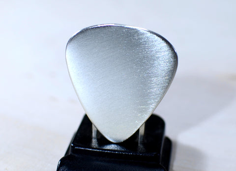 Guitar Pick Handmade from Sterling Silver ready to personalize