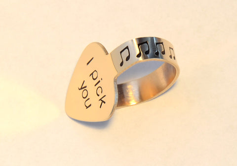 I pick you bronze thumb pick – custom and personalized finger and thumb picks