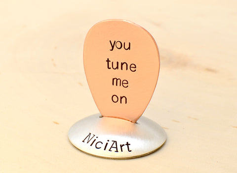 You Tune Me on Copper Teardrop Guitar Pick