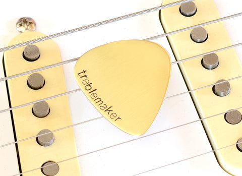 Treblemaker Bronze Guitar Pick for the Pugnacious Guitarist in search of a Sound Fight