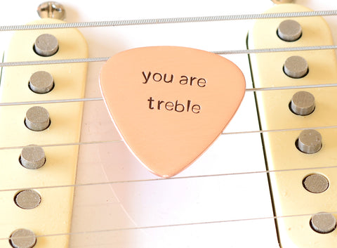 You are Treble Copper Guitar Pick