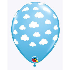 "11"" Qualatex Blue Sky White Clouds Latex Balloon"