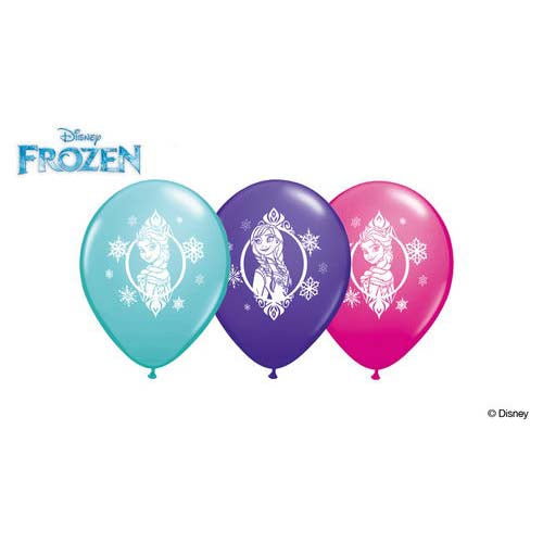 "11"" Qualatex Frozen Latex Balloon (Pack of 3)"