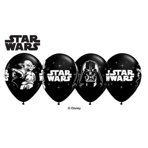 "11"" Qualatex Onyx Black Star Wars Latex Balloon"