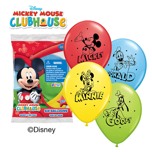 "12"" Mickey and Friends (Pack of 6)"
