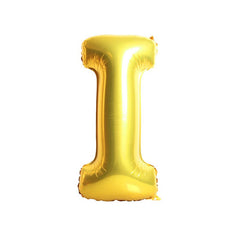 "16"" Alphabet 'I' Gold Foil Balloon"