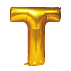 "16"" Alphabet 'T' Gold Foil Balloon"