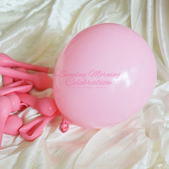 5 Inch Latex Balloon (Solid Pastel Pink)