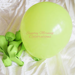 5 Inch Latex Balloon (Lime Green)