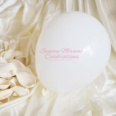 5 Inch Latex Balloon (Solid White)