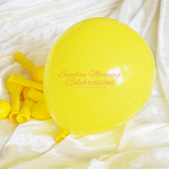 5 Inch Latex Balloon (Yellow)