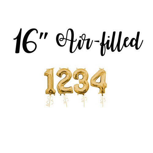 "16"" Number Metallic Gold Foil Balloon"