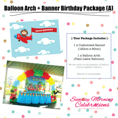 Balloon Arch + Birthday Banner Package (A)