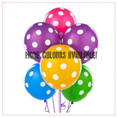 Balloon Bouquet (6 x 14 Inch Polka Dot Latex)