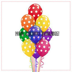 Balloon Bouquet (9 x 14 Inch Polka Dot Latex)