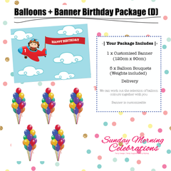 Balloons + Birthday Banner Package (D)
