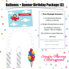 Balloons + Birthday Banner Package (C)