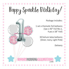 Charlotte Balloon Package: Happy Birthday!