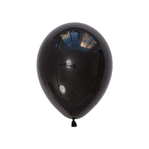 "12"" Pearl Latex Balloon Pearl Black"