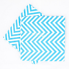 Chevron Blue Party Napkins
