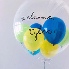 "24"" Bubble Balloon (Customised Wordings + Mini Balloons)"