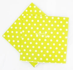 Polka Dot Citrus Green Party Napkins