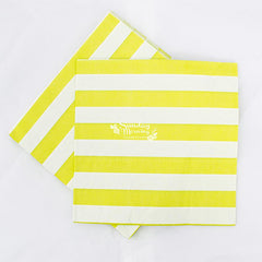 Citrus Green Stripes Party Napkins