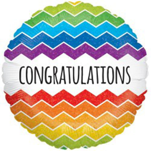 Congratulations Rainbow Foil Balloon