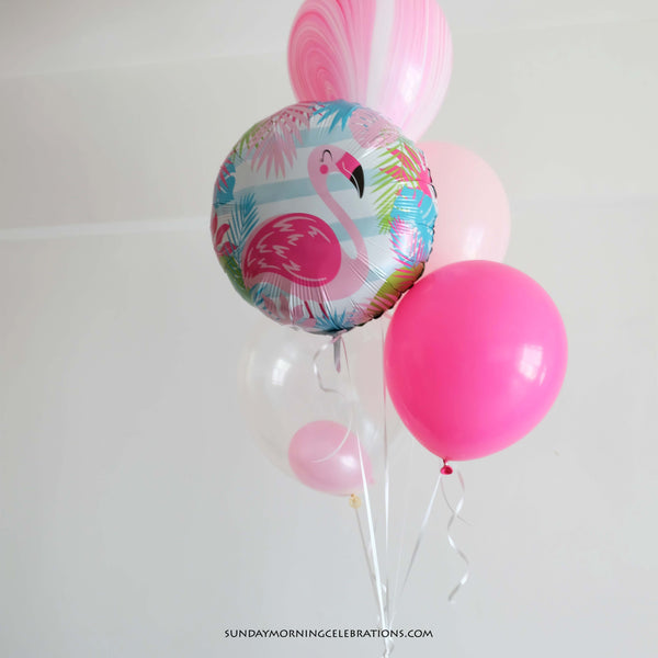 Pink Flamingo Happy Birthday Foil Balloon