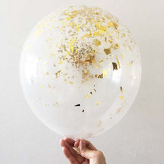 "12"" Gold Dust Latex Balloon"