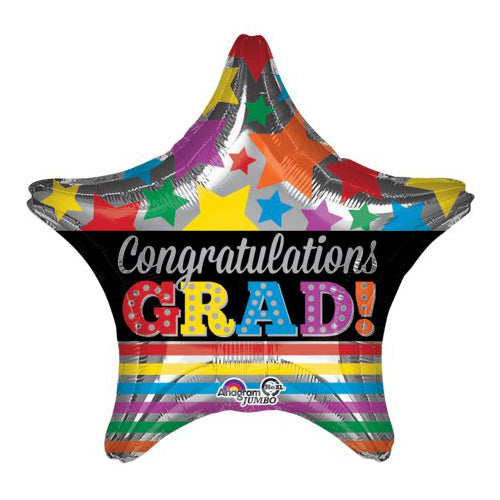 "Anagram 18"" Graduation Foil Star (Congratulations Grad!)"