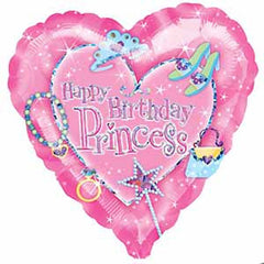 Happy Birthday Princess Heart Shape
