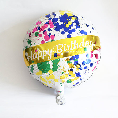Anagram Happy Birthday To You Splashes Foil Balloon