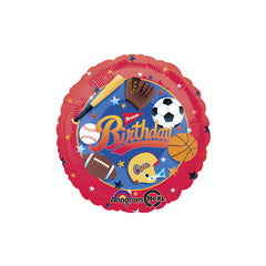 Happy Birthday Sports Theme Foil Balloon