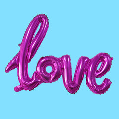 "Hot Pink LOVE Foil Balloon (26"")"