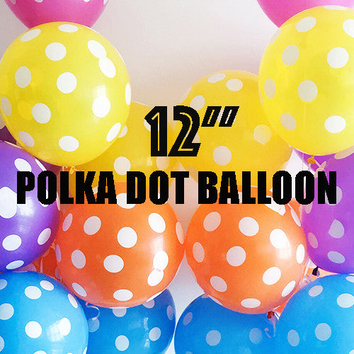 "12"" Polka Dot Latex Balloons"