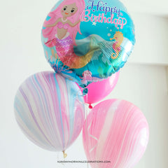 Mermaid Happy Birthday Foil Balloon
