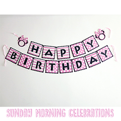 Minnie Mouse Happy Birthday Bunting