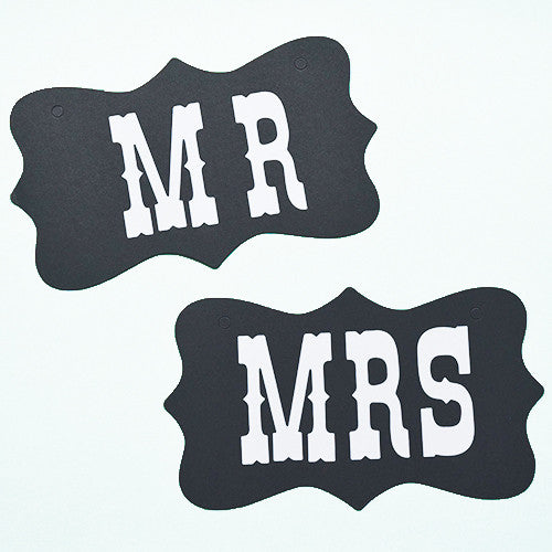 """Mr"" & ""Mrs"" Sign"
