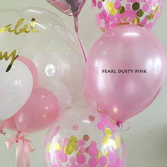 "12"" Pearl Latex Balloon Pearl Dusty Pink"