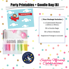 Party Printables Package (B)