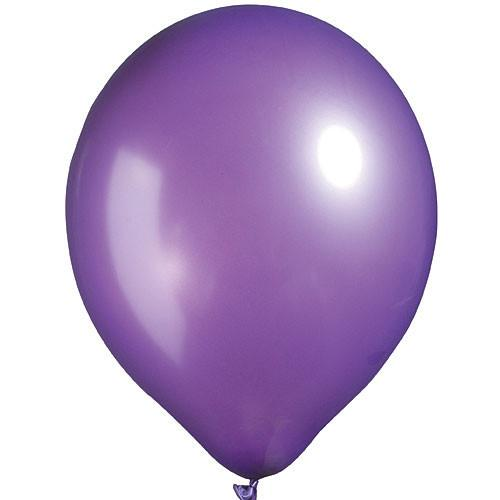 "12"" Pearl Latex Balloon Pearl Dark Purple"