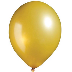 "12"" Pearl Latex Balloon Pearl Gold"